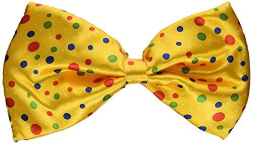 Forum Novelties Jumbo Clown Polka Dot Bow Tie Costume Accessory Yellow]()