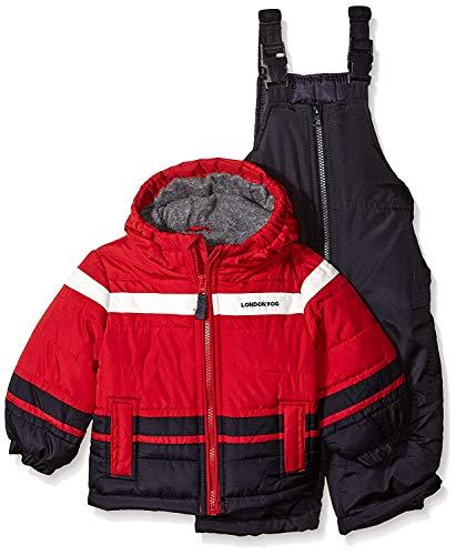 London Fog Baby Boys 2-Piece Snow Pant & Jacket Snowsuit, red, 24M