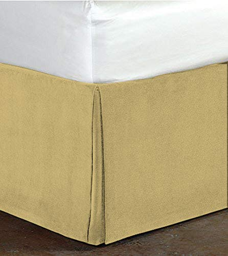 - Princess House Super Luxurious Tailored Classy Royal 100% Cotton Velvet Pleated Styling Bedskirt 15