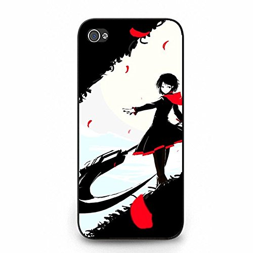 Iphone 5/5S Phone Case RWBY Black Theme Red Girl Unique Design Cover