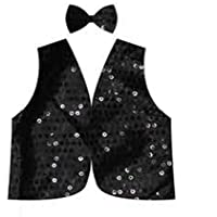 Kids Sequin Vest & Bow Tie Set Costume
