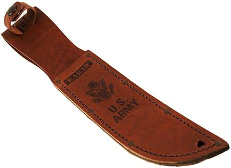 KA-Bar Leather Sheath, Army Logo, Brown, Fits 7