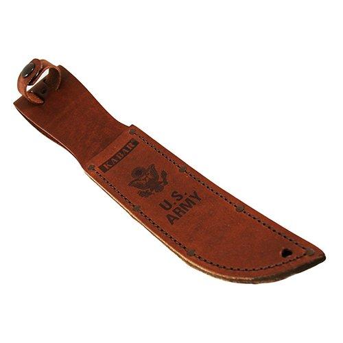 Ka-Bar Army Leather Sheath, 7-Inch, Brown