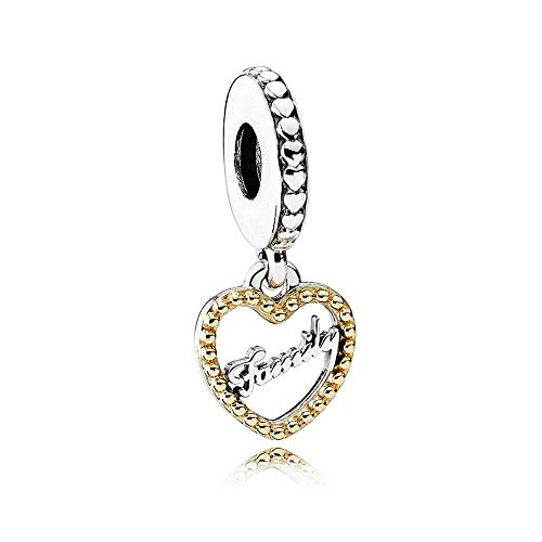 Romántico Amor Family Forever Charms 925 Sterling Silver Bead fit Pandora Bracelets
