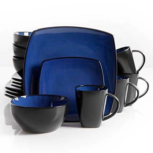 The Boutique Beautiful Soho Lounge 16 Piece Blue Dinnerware (Beautiful Dining Set)