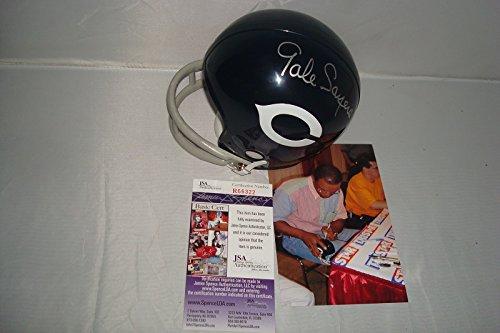 gale sayers signed mini helmet - 1