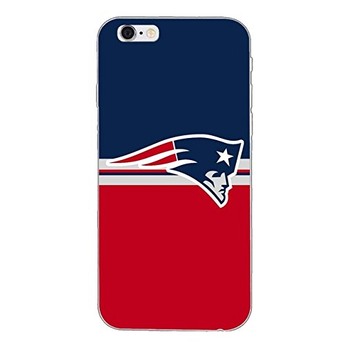 CH Red White Blue Patriots Pattern iPhone 7 Case Foot Ball Themed I Phone 8 Cover Foot Ball Sports Themed Soft Cellphone Protector Tom Brady American Sport Team Merchandise, Plastic