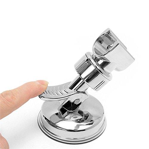 HANGESA Shower Mounting Brackets Bathroom Adjustable Shower Head Holder Rack Bracket Suction Cup Wall Mounted Replacement Holder