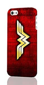 SUUER Wonder Woman iPhone 5 5S Case , Designer Personalized Custom Plastic Hard CASE for iPhone 5 5S Durable New Style Rough Skin 3D Case Cover