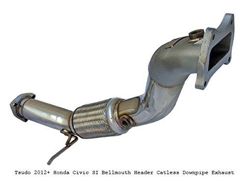 Tsudo Compatible/Replacement for 2012-2015 Civic Si K24 Bellmouth Alfa Headers Downpipe