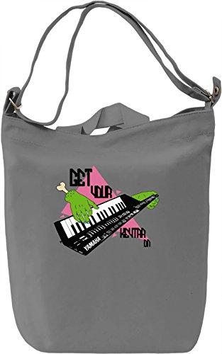 Get your keytar on Borsa Giornaliera Canvas Canvas Day Bag| 100% Premium Cotton Canvas| DTG Printing|