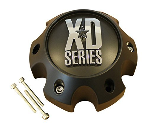 KMC-XD-Series-796-797-798-Matte-Flat-Black-6-Lug-Wheel-Rim-Center-Cap-1079L145-S708-06-ABS