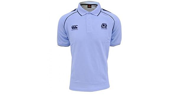 Canterbury Escocia Rugby Cut & Sew - Polo para hombre, Blue/White ...
