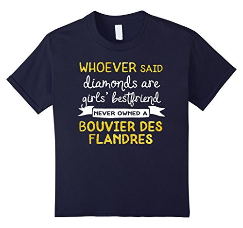 unisex-child Inspirational Bouvier des Flandres Dog T Shirt 12 Navy