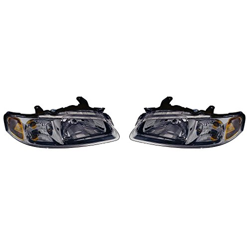 - Fits Nissan Sentra 2002-2003 Headlight Assembly CA/GXE/XE Model Chrome Bezel Pair Driver and Passenger Side (NSF Certified) NI2502149, NI2503149