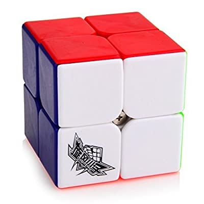 D-FantiX 50mm Cyclone Boys 2x2 Speed Cube Stickerless Magic Cube Puzzles Toys Colorful