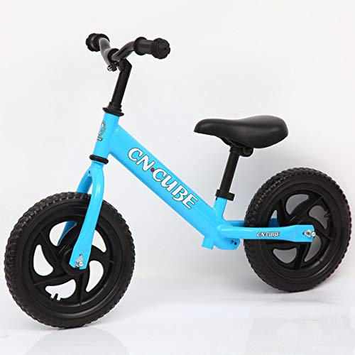1 Pack, No-Pedal Balance Bike Safety Bicycle with Adjust Seat for Children Kids Ages 2 to 6 Years Balance Bike,Blue