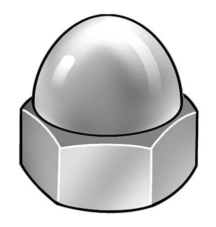 #10-24 Grade 2 Steel Zinc Plated Finish Acorn Nuts 50 pk.
