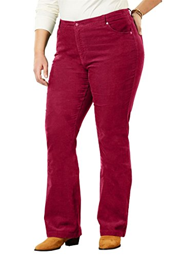 Women's Plus Size Petite Bootcut Stretch Corduroy Jean by Woman Within