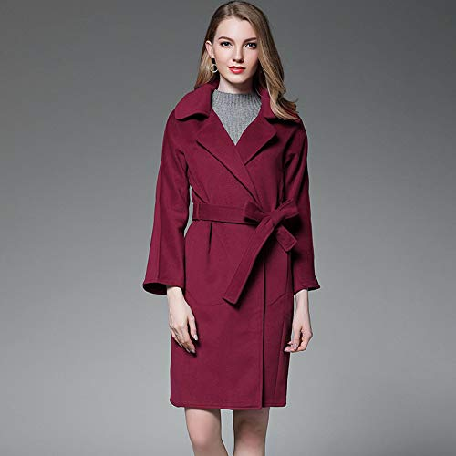 Sciolto Di Rosso Sezione Cappotto In Fjthy Per Lunga A Lana Donna ZBp7qTnwt