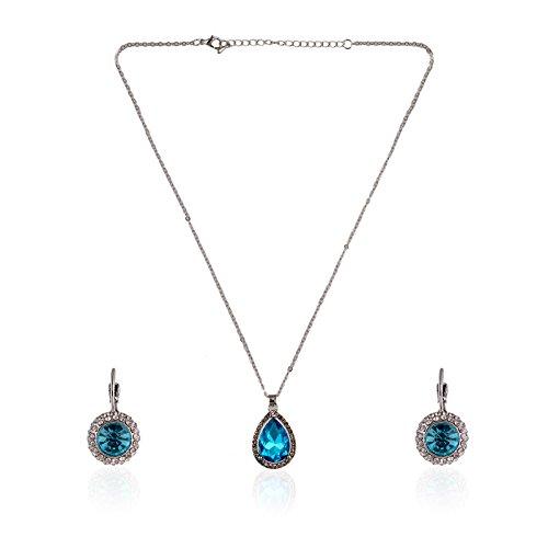 Fasherati Collier Cristal Bleu Collier pour Filles