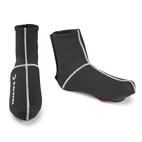 Tenn Unisex Fluid Water Resistant Cycling Overshoes Black