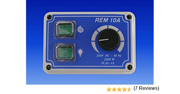 Regulador potenciómetro hipoalergénico de velocidad con interruptor de luz y motor 10 A 220 V: Amazon.es: Industria, empresas y ciencia