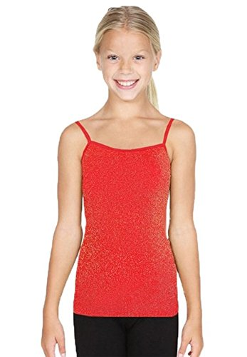 Lurex Sparkle Camisole Spaghetti Metallic Seamless Tank Kids Girls Youth Onesize (Sparkle Camisole)