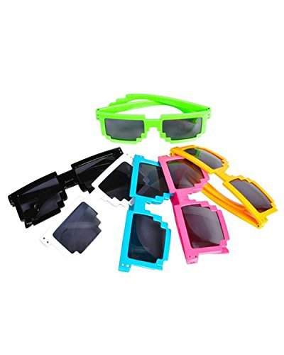 Pixelated Sunglasses Robot Sunglasses 24 Pack