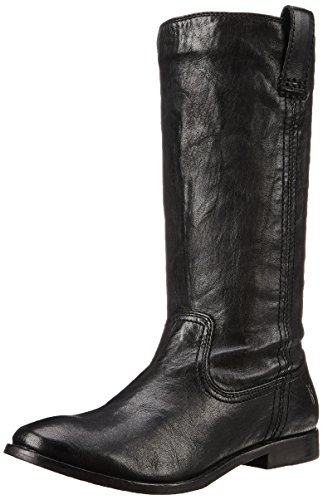 Tire asv Boot on Slouch Frye mujer 71051 la de Black Mid Anna HUawWqSE
