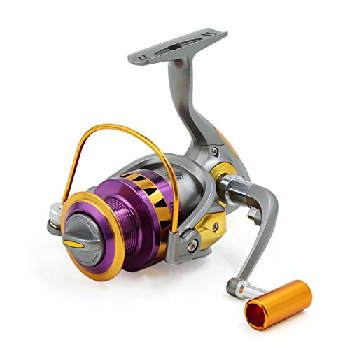 uxcell 13BB 5.5:1 Spinning Fish Reels Freshwater Saltwater Left/Right HB4000