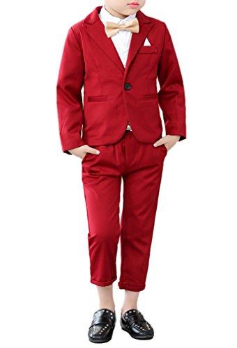 Boys Red Purple Gray Black 4 Colors Suits