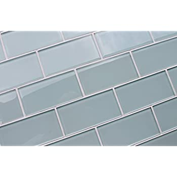 Cute 2 By 4 Ceiling Tiles Thick 24 Inch Ceramic Tile Rectangular 2X4 Drop Ceiling Tiles 4X4 Ceramic Floor Tile Old 8 Inch Ceramic Tile BlueAccent Backsplash Tiles Glass Subway Tile By Giorbello   Baby Blue  Single Tile     Amazon