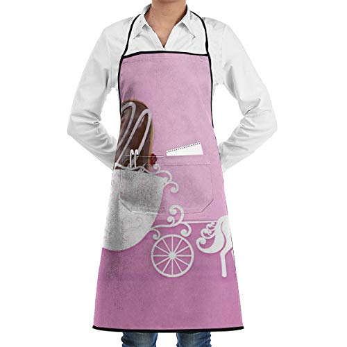 KasaBlaro Kitchen Aprons for Women with Pockets Chocolate On The Wagon Printed Chef Cooking Apron Bib Aprons for Men Chef - Waterpoof from KasaBlaro