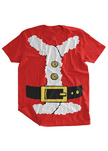 [BumpCovers Santa Suit Costume T-shirt 2XL Red] (Pun Costumes For Guys)