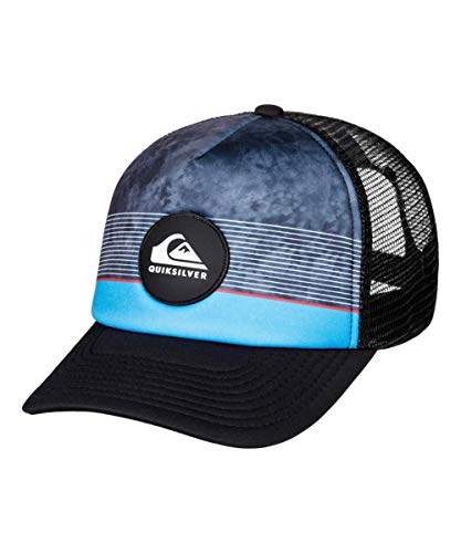 Quiksilver Men's Stripe Pipes Trucker HAT, Hibiscus, ()
