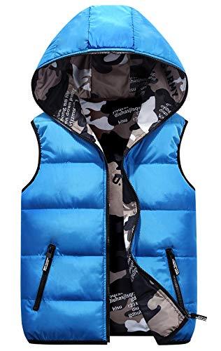 - Happy Cherry Boys Sleeveless Jacket Winter Warm Eiderdown Cotton Creaseresist Lightweight Reversible Vest 3-4T Blue