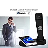 lipiny Qi Wireless Charger 2in1 Telephone Radiation-Proof Handset Bluetooth Call Handsfree for iPhone Samsung Huawei Xiaomi Mobile Phone
