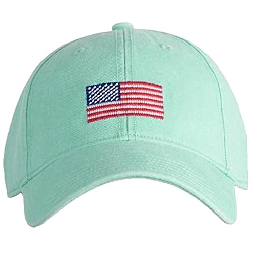 Harding-Lane American Flag On Keys Adjustable Needlepoint Hat, Green, One Size -