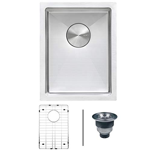 Ruvati 14-inch Undermount 16 Gauge Tight Radius Bar Prep Sink Stainless Steel Single Bowl - ()