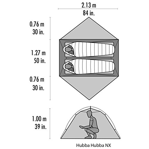 MSR Hubba Hubba NX 2 Person Lightweight Backpacking Tent by MSR (Image #3)