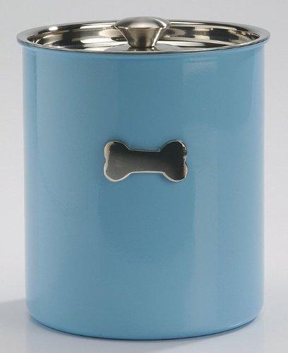 VAN RIEL - Glossy Bone - Boîte de stockage bleue en inox pour chiens
