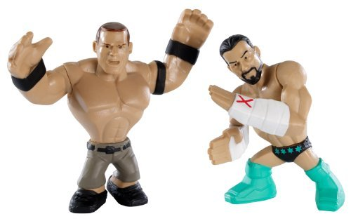 WWE Rumblers mini figure CM Punk & John Cena by Mattel