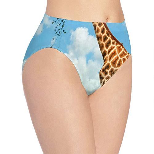 3a54e1691f yujiasuliao Womens Underwear Feeding Giraffes Fantastic Bikini Brief  Hipster Panty