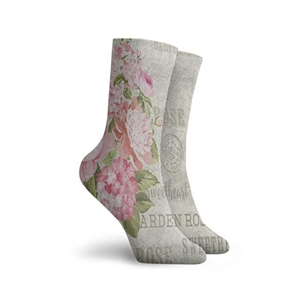 Crew Socks Shabby Chic Floral Flower Stylish Unisex Casual Stocking Decoration Sock Clearance For Woman -