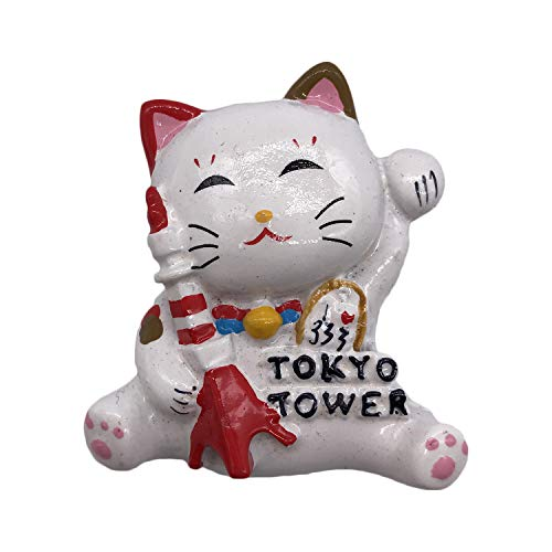(Japan Tokyo Tower Lucky Cat 3D Refrigerator Magnet Travel Sticker Souvenirs Resin Home & Kitchen Decoration,Japan Fridge Magnet from China)