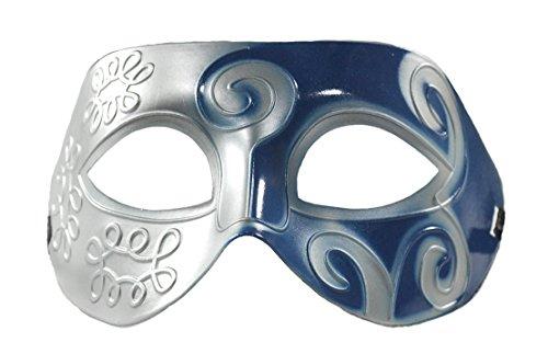 Silver Masquerade Masks And Blue (Kayso Men's Roman Retro Masquerade Mask)