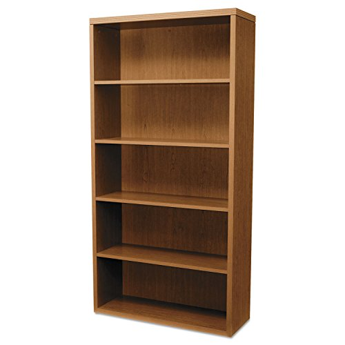 - HON 11555AXHH Valido 11500 Series Bookcase, Five-Shelf, 36w x 13-1/8d x 71h, Bourbon Cherry