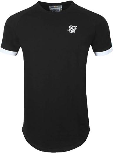 Sik Silk - SS15803 - Inset Cuff Fade Panel - Camiseta Manga Corta - Hombre: Amazon.es: Ropa y accesorios