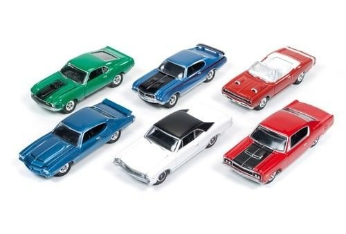 Muscle Cars USA Release 1B Set of 6 cars 1/64 by Johnny Lightning JLMC001-B 1970 Chevelle Ss Convertible